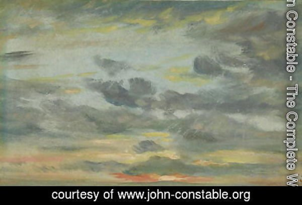 John Constable - Sky Study, Sunset, 1821-22