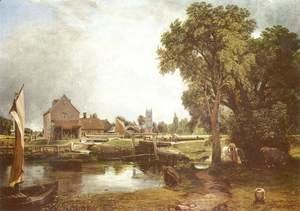 John Constable - Dedham Lock and Mill, 1820