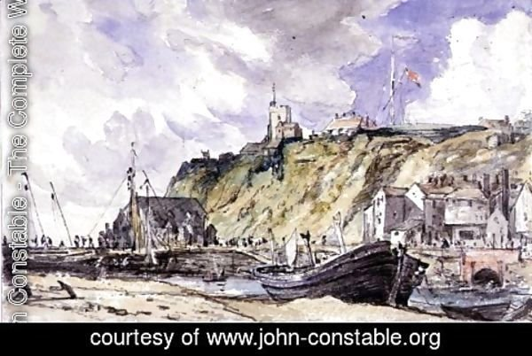 John Constable - The Harbour, Folkestone, 1833,