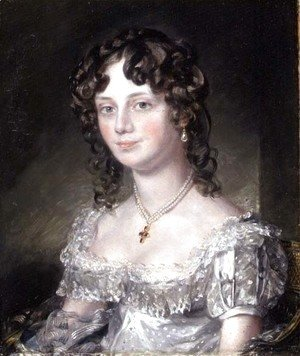 John Constable - Portrait of Mrs Mary Fisher, wife of John Fisher, Archdeacon of Berkshire, 1816