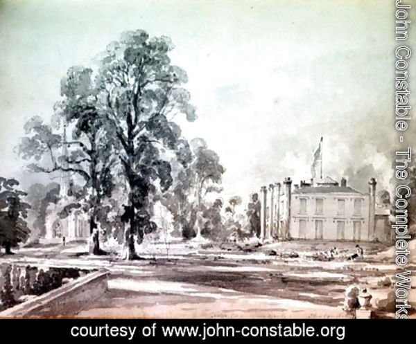 John Constable - Coleorton Hall, Leicestershire, home of Sir George Beaumont