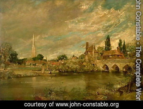 John Constable - The Bridge of Harnham and Salisbury Cathedral, c.1820