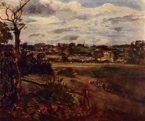 John Constable - View of Highgate from Hampstead Heath, c.1834