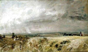 John Constable - View on Hampstead Heath
