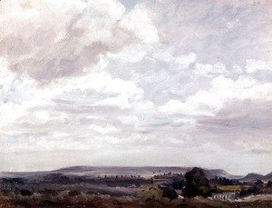 John Constable - View in Wiltshire