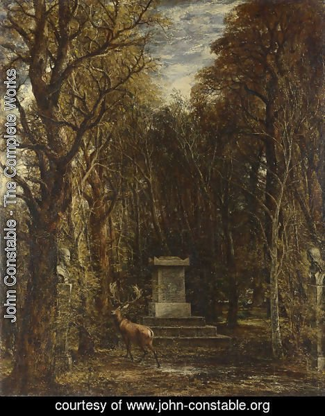 John Constable - The Cenotaph to Reynold's Memory, Coleorton, c.1833