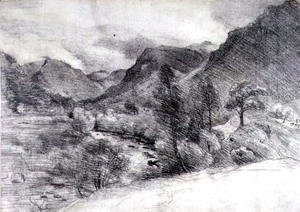 John Constable - Borrowdale, Morning, c.1806