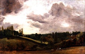 John Constable - View of East Bergholt, c.1813