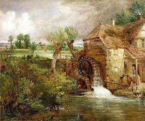 John Constable - Mill at Gillingham, Dorset, 1825-26