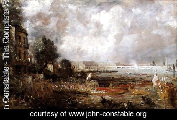 John Constable - The Opening of Waterloo Bridge, c.1829-31