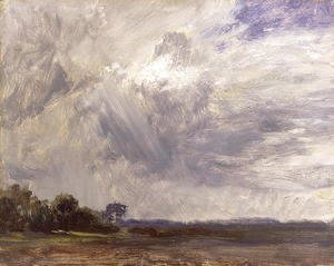 John Constable - Landscape with Grey Windy Sky, c.1821-30