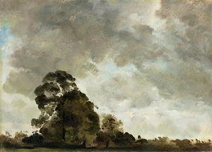 John Constable - Landscape at Hampstead, Tree and Storm Clouds, c.1821