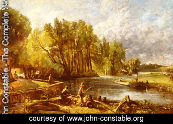 John Constable - The Young Waltonians - Stratford Mill, c.1819-25