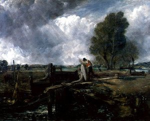 John Constable - Study of a Boat Passing a Lock, c.1823