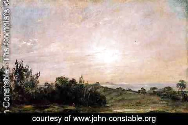 John Constable - Hampstead Heath, looking towards Harrow, 1821-22