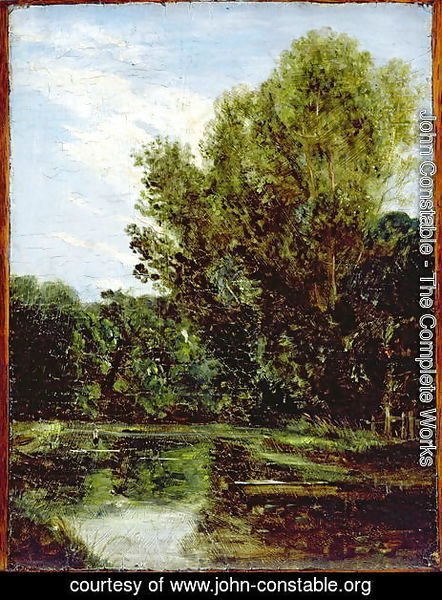 John Constable - Corner of Hampstead Ponds