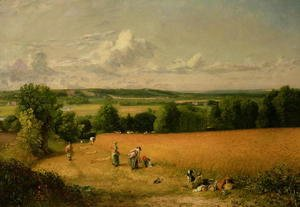 John Constable - Wheat Field
