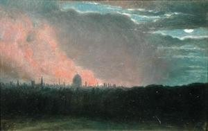 John Constable - Fire in London seen from Hampstead