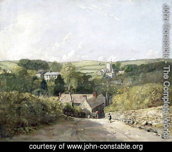 John Constable - A View of Osmington Village with the Church and Vicarage, 1816
