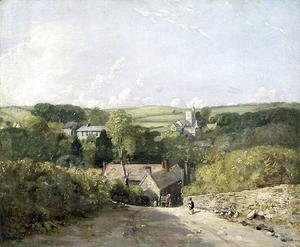 A View of Osmington Village with the Church and Vicarage, 1816