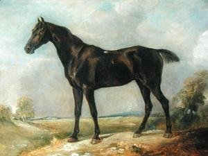 John Constable - Golding Constable's Black Riding-Horse, c.1805-10