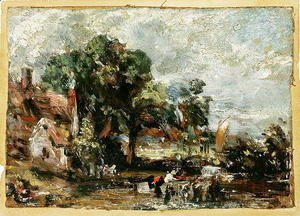 John Constable - Sketch for  The Haywain  c.1820