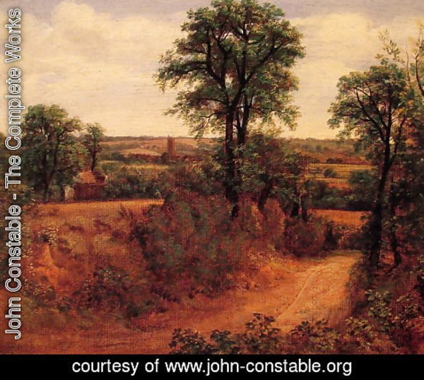 John Constable - A Lane near Dedham, c.1802
