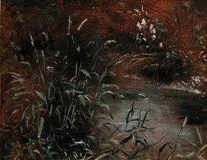John Constable - Rushes by a Pool, c.1821
