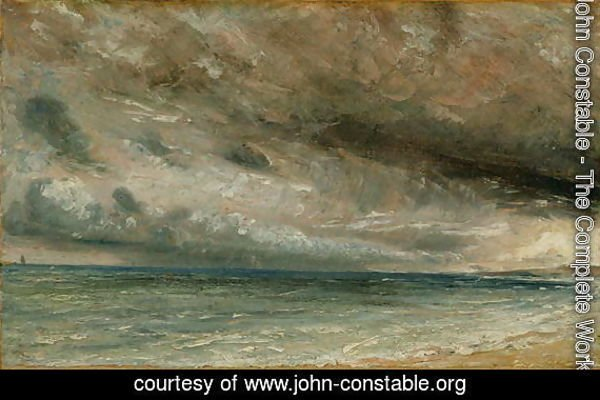 The Coast at Brighton - Stormy Evening, c.1828