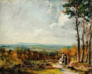 John Constable - Hampstead Heath Looking Towards Harrow, 1821