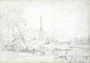 Salisbury Cathedral from the North West, 1829