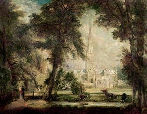 Salisbury Cathedral from the Bishop's Grounds, c.1822-23