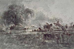 John Constable - Study for  The Leaping Horse