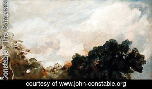 John Constable - Cloud Study with Trees, 1821