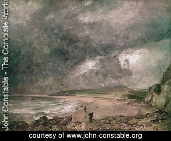 John Constable - Weymouth Bay with Approaching Storm