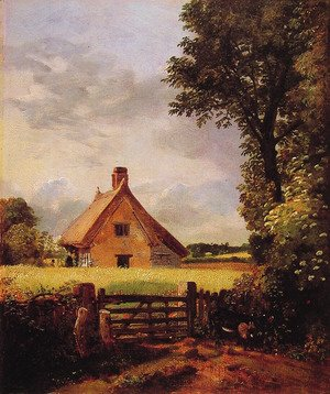 John Constable - A Cottage in a Cornfield, 1817