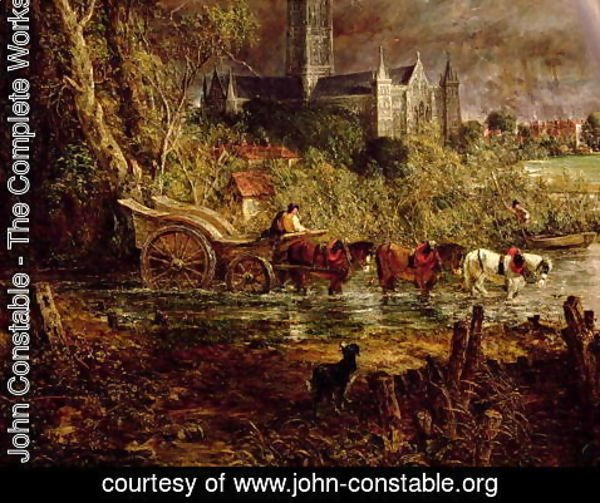 John Constable - Salisbury Cathedral From the Meadows, 1831 (detail) 2
