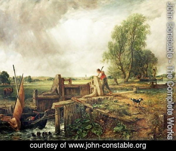 John Constable - A Boat Passing a Lock 2