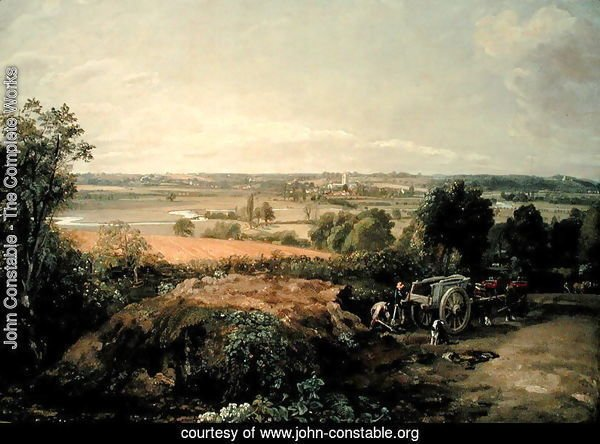 Stour Valley and Dedham Church, c.1815