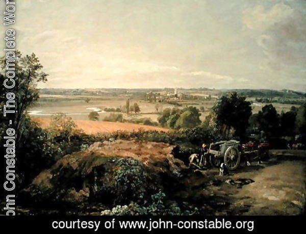 John Constable - Stour Valley and Dedham Church, c.1815