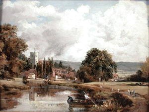 John Constable - Harnham Church, near Salisbury, 1820