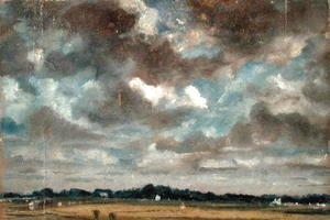 John Constable - Extensive Landscape with Grey Clouds, c.1821