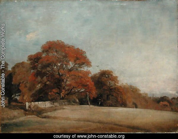 An Autumnal Landscape at East Bergholt, c.1805-08