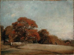 John Constable - An Autumnal Landscape at East Bergholt, c.1805-08