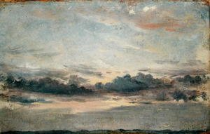 John Constable - A Cloud Study, Sunset, c.1821