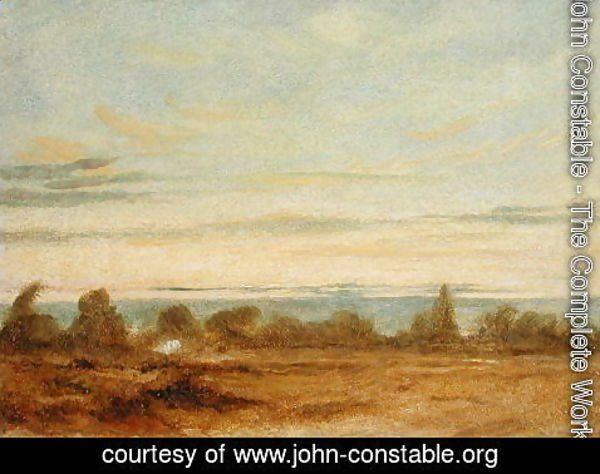 John Constable - Summer   Evening Landscape