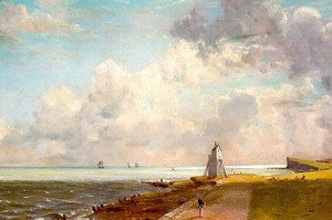 John Constable - Harwich, The Low Lighthouse and Beacon Hill, c.1820