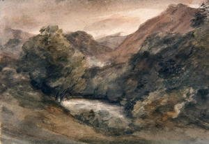 John Constable - Borrowdale, Evening after a Fine Day, October 1, 1806
