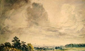 John Constable - London from Hampstead Heath