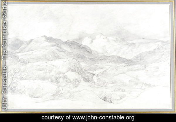 Langdale Pikes from Elterwater, 4th September 1806